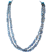 Cultured fresh water pearls and Kingman Turquoise necklace