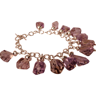 Natural Ametrine nugget bracelet