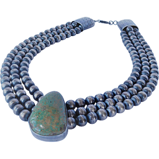 Navajo Pearls and turquoise necklace