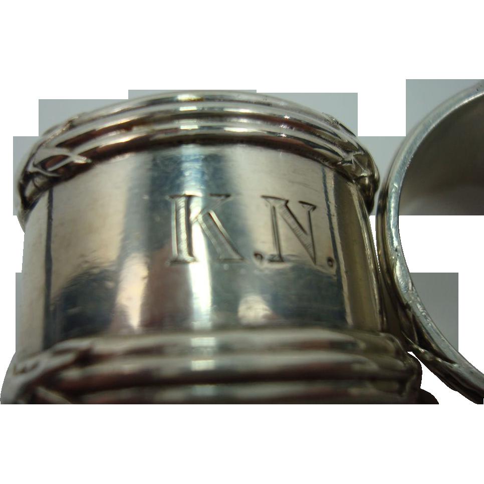 German .800 Silver Napkin Rings