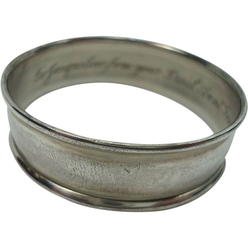 """Watrous """"To Jaqueline from your great aunt"""" 1941 Sterling Napkin Ring"""