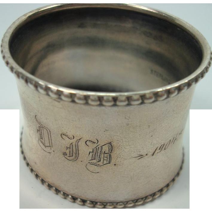 Sterling Napkin Ring 1904