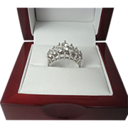 14K White Gold  1.70 cttw Diamond Ring