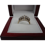 14K Yellow Gold .80 cttw Diamond Band