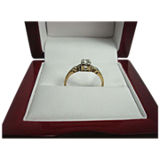 14K Gold .06 ct Diamond Solitiare