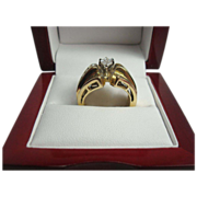 14K Gold 1.15 cttw Diamond Ring