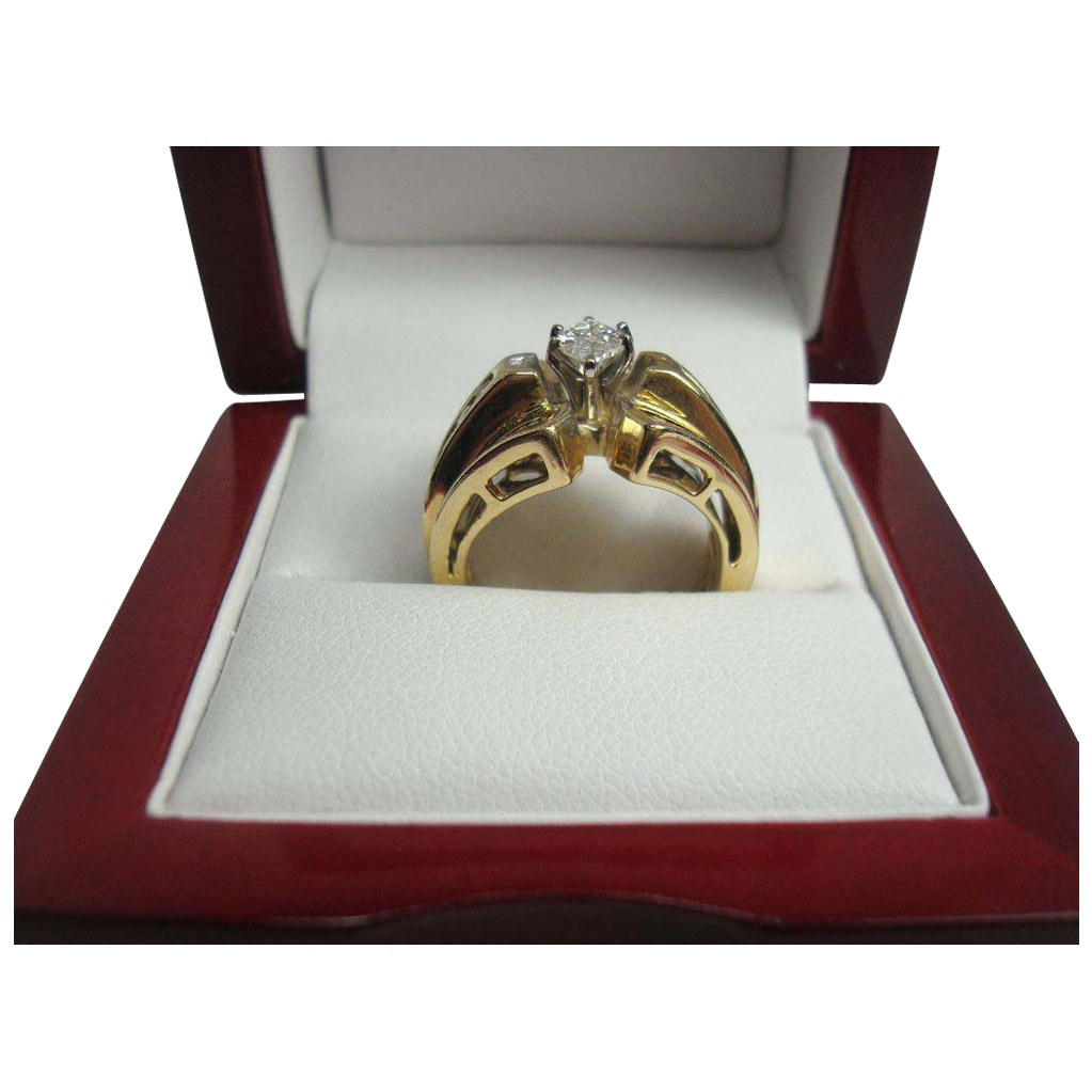 14K Gold 1.15 cttw Diamond Ring