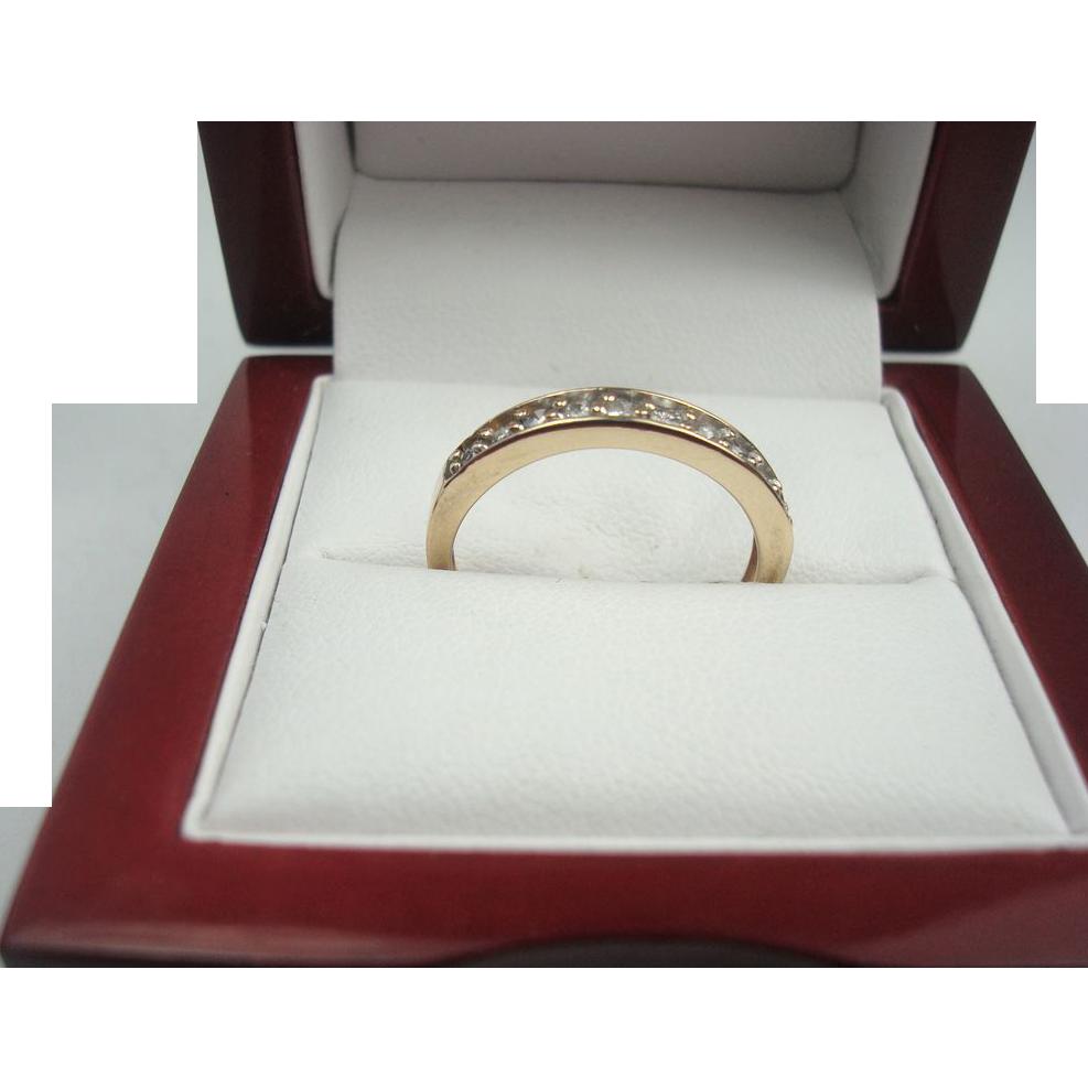 14K Gold .25 cttw Diamond Band