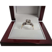 14K Gold .45 cttw Diamond Ring