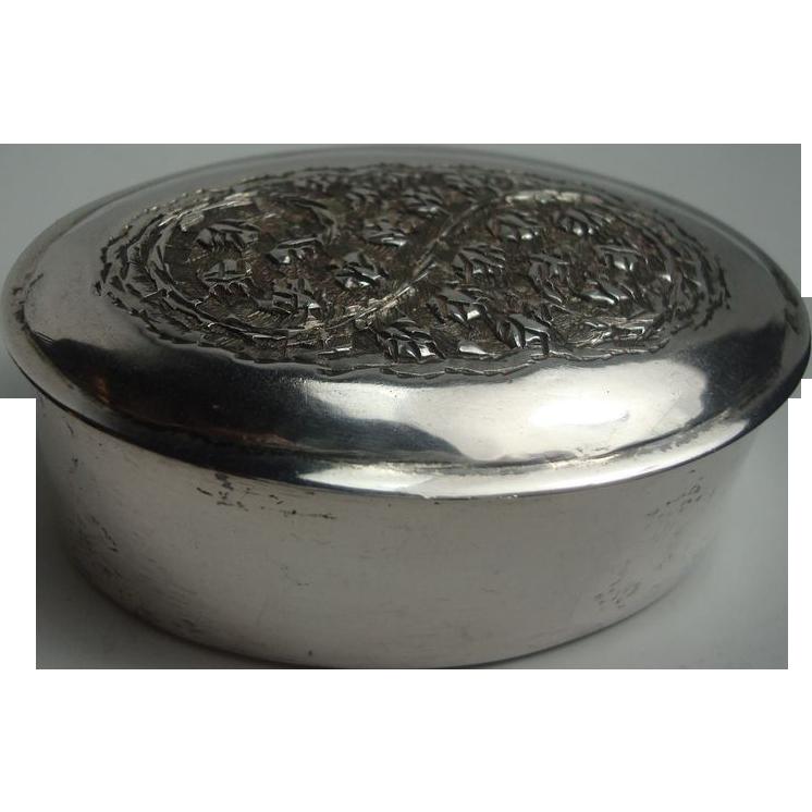 Silver Snuff Pill Box