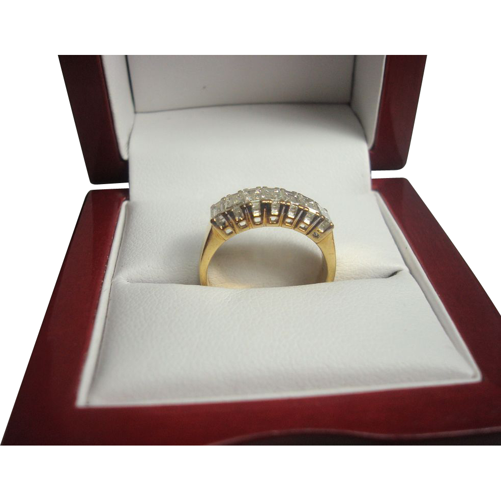 18K 1.65 cttw Emerald Cut Diamond Ring