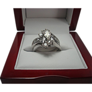 14K 1.35 cttw Marquise Diamond Ring Set