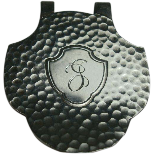 Sterling Silver Mfg Hammered Napkin Clip