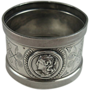 Coin Silver Medallion Napkin Ring