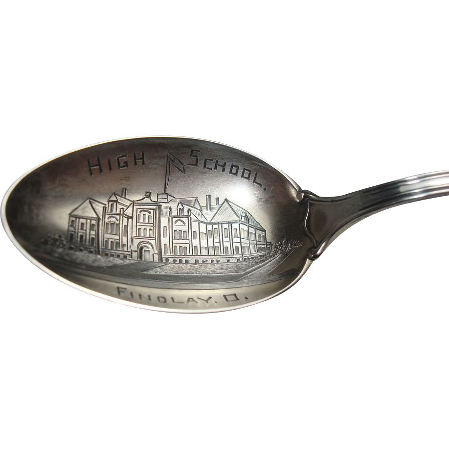 Sterling Findlay Ohio High School Souvenir Spoon