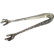 S Kirk & Son Repousse Sugar Tongs