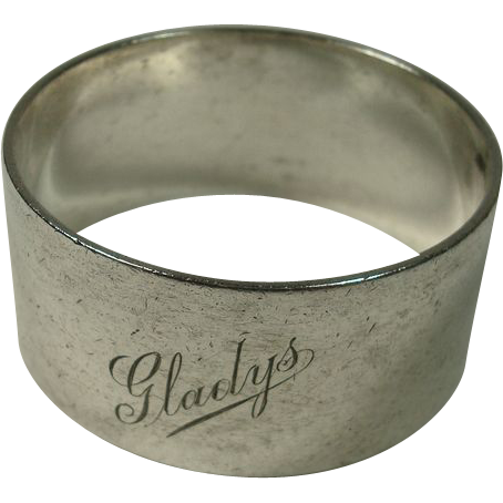 australian sterling gladys napkin ring from