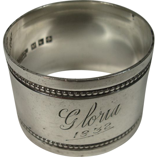 Australian Sterling Gloria Napkin Ring