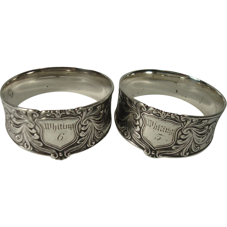 Silver Whiting 6 and 3 Napkin Rings