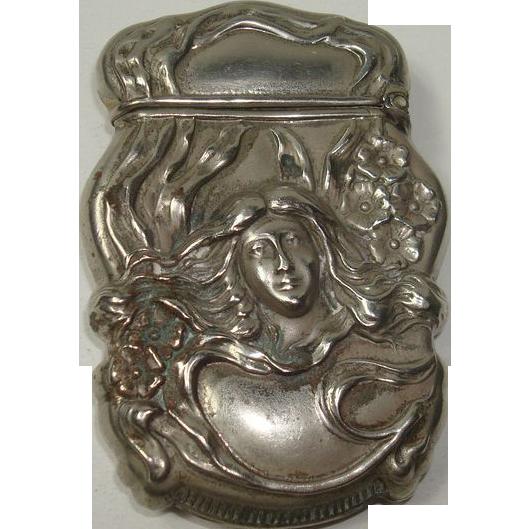 James E Blake Art Nouveau Match Safe or Vesta