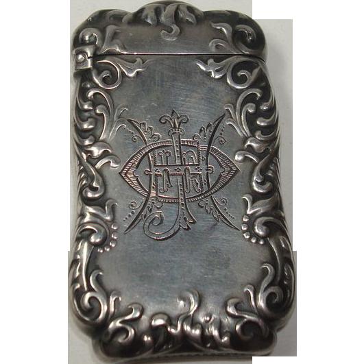 Antique La Pierre 1895 Sterling Match Safe or Vesta