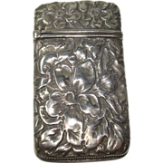 Repousse Sterling Floral Match Safe or Vesta