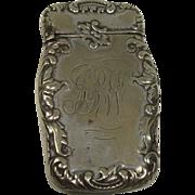 Silver Plate Art Nouveau Match o Vesta