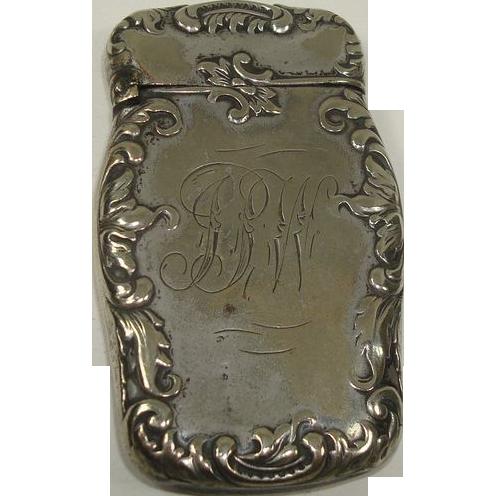 Silver Plate Art Nouveau Match or Vesta