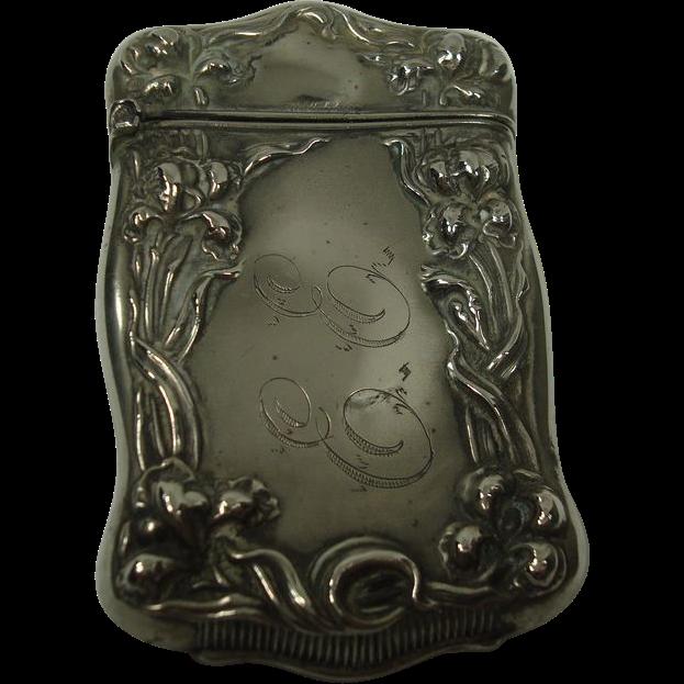 Vine and Floral Art Nouveau Match Safe or Vesta