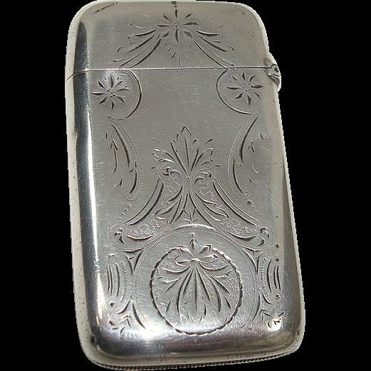 Gorham 1897 Engraved Match Safe or Vesta