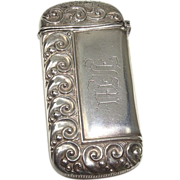 Sterling Art Nouveau Match Safe or Vesta