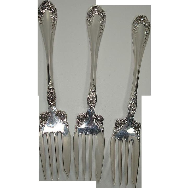 Wallace 1898 Rose Salad Forks
