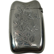Gorham 1888 Butterfly Leaf and Floral Match Safe or Vesta