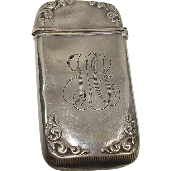 Silver Plate Art Nouveau Match Safe or Vesta