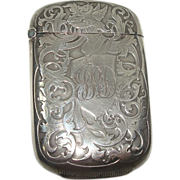 Sterling Art Nouveau Pegasus Match Safe or Vesta