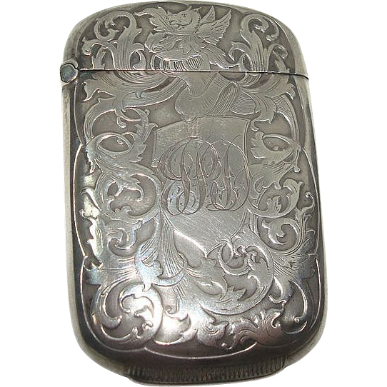 Sterling Art Nouveau Pegasus Match Safe or Vesta
