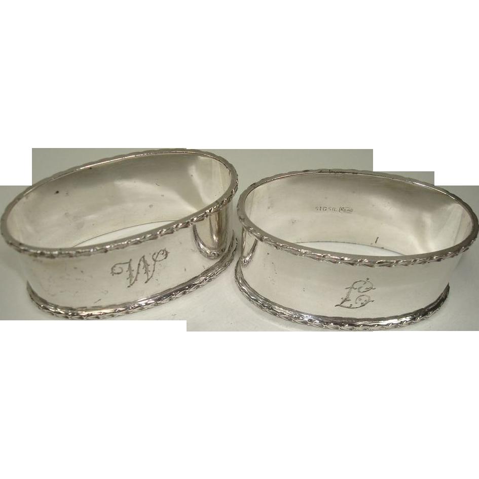 australian rodd sterling napkin rings from silverbypatrick