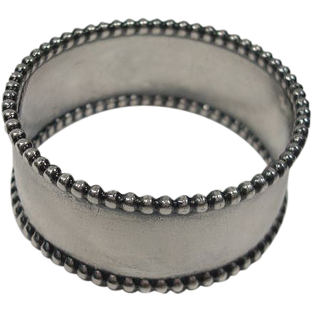 towle 131 sterling beaded napkin ring from