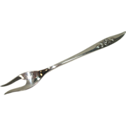Heirloom Sterling 1963 Belle Rose Short Handled Olive Fork