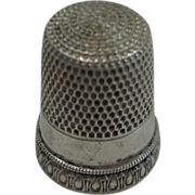 Sterling Number 10 Priscilla Thimble