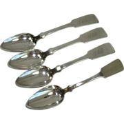N E Crittenden Coin Silver Teaspoons