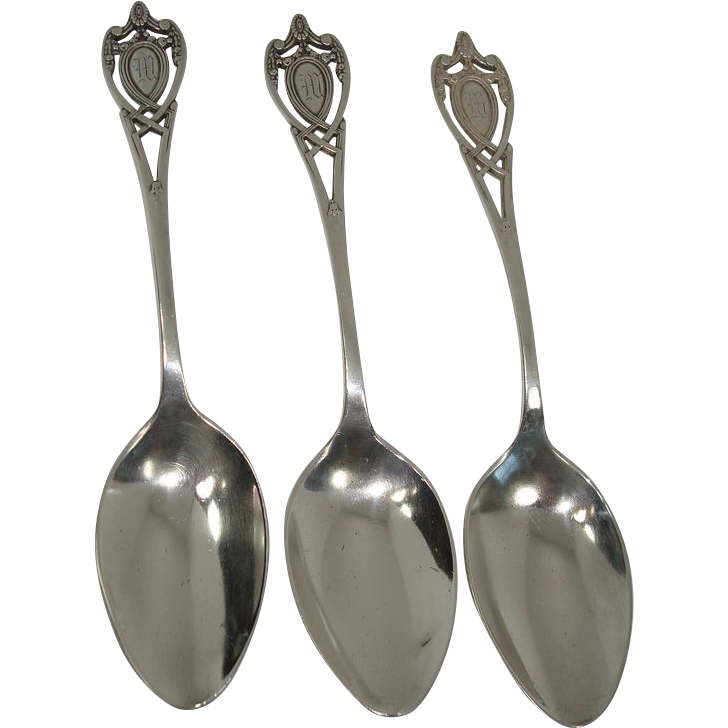 Lunt 1908 Monticello Sterling Teaspoons