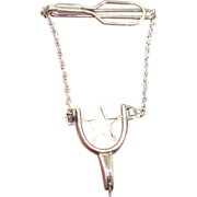 Interesting Sterling Texas Spur Tie Clasp