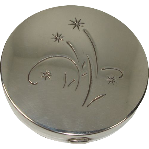 Gorham Sterling Floral and Leaf Compact