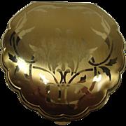 Elgin American Art Nouveau Clamshell Floral Compact