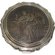 Rare Stratton of England Silverplate Powder Compact - Red Tag Sale Item