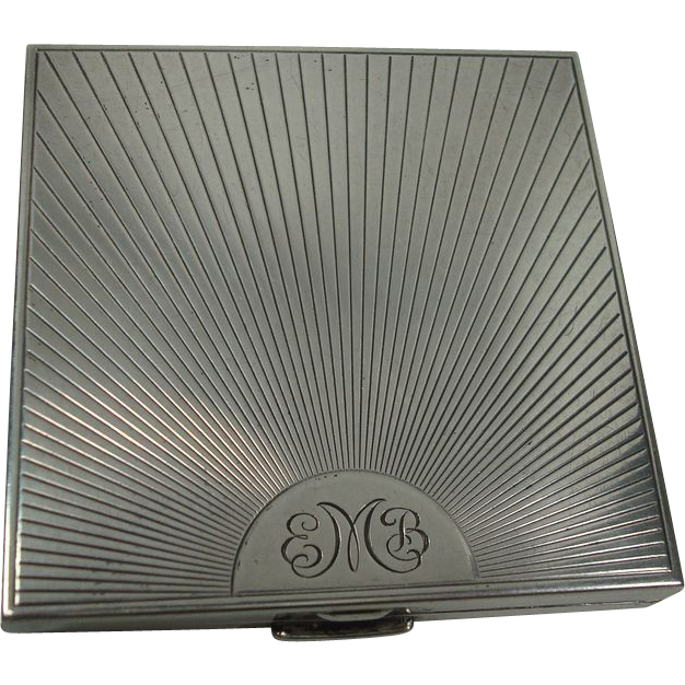 Sterling Sunray Mirrored Compact