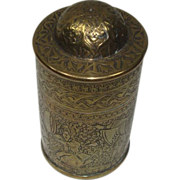 Figural Scenes  Brass Domed Top Match Safe