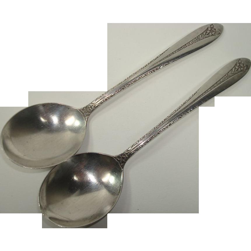 National 1938 Margaret Rose Soup Spoons