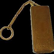 DuBarry Richard Hudnut Elongated  Gold Tone Compact